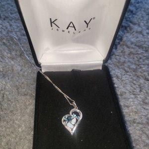 Kay Jewelers Heart Opal Necklace